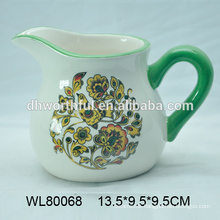 Hand painted cheap ceramic milk jug in high quality