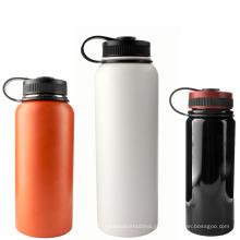 A venda quente ao ar livre ostenta a garrafa de aço inoxidável isolada dobro da parede dobro