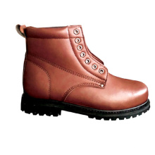 China Wholesale Black Leather  work footwear Safety Shoes combat safety boots