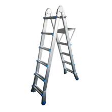 rubber feet multi-purpose telescopic step ladder