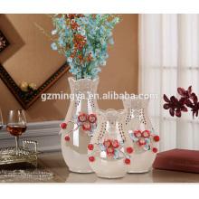 Decoración para el hogar no moq boda piso decorativos florero regalos para la familia moderno florero de cerámica