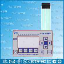 Embossed Flat Flexible Membrane Switch Keyboard With PET Window