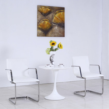 Modern White Leather Metal Restaurant Table and Chair Set (SP-CT845)