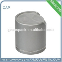 Tampões de alumínio dourados ou prateados para garrafas de vidro
