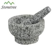 Granitstein-Küchengeschirr billiger kundenspezifischer Mörser und Stößel