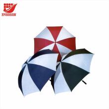 Auto aberto guarda-chuva de golfe em linha reta