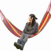 200cm Portable Multicolor Camping Outdoor Canvas Hammock