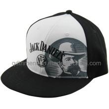 Flat Bill Screen Print Broderie Baseball Snapback Cap (TMFL7317-2)