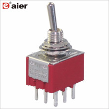 MTS-303-A2 3PDT Locking 3 Way 9 Pin Toggle Switch ON OFF ON