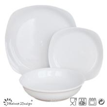 White Glaze Wholesale Ceniza de borde estrecho Set 18PCS