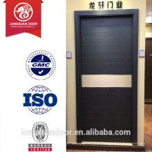 Portas de madeira de acabamento de melamina ecológicas personalizadas, porta de MDF composta, portas de escritório de estilo simples / portas de hotel