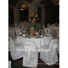 Couverture de chaise de banquet standard, CT079 polyester matière, durable et facile lavable
