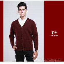 Yak Wool /Cashmere V Neck Cardigan Long Sleeve Sweater/Garment/Clothing/Knitwear