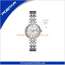 Schmuck Diamante Flor Padrão Dial Mulheres Relógio De Pulso
