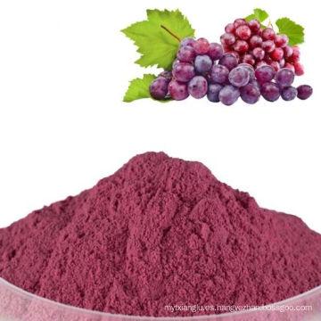 Polvo de jugo de uva roja 100% puro rojo deshidratado