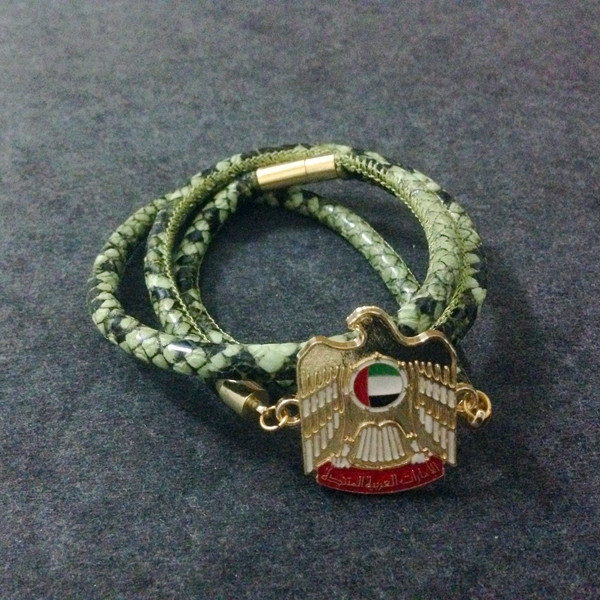 UAE Badge Stingray Leather Bracelet