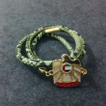 UAE Badge Stingray Leather National Day Gift Bracelet
