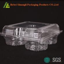 Empaquetado transparente de tarta de huevo de plástico transparente
