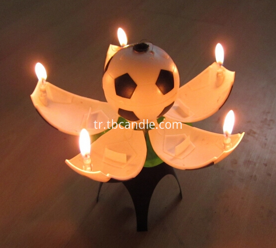 football rotating candles for party