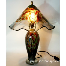 Modern Glass Table Lamp with Glass Shade