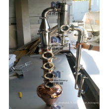Équipement industriel de distillateur de cuivre d'alcool de prix usine 100L