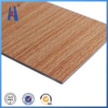 Ventas calientes Material de construcción Panel compuesto de aluminio de madera