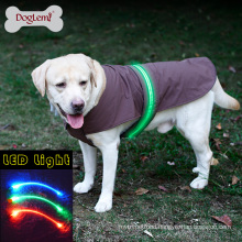 Wholesale Fashion Nice LED safety Dog Vest Jacket Raincoat Winter Pet Clothes