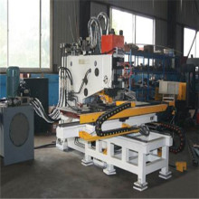 Furadeira hidráulica e máquina de marcação para placas de aço