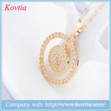 Goldmünzen Anhänger Halskette Diamant Preis pro Karat Gold Kreis Halskette Ideen