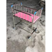 Buen precio plegable de acero inoxidable recién nacido cama de bebé