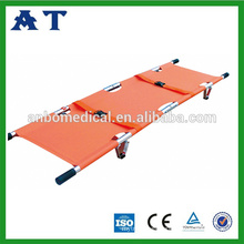 Emergency medical equipment&aluminum alloy 2 folding stretcher;foldable stretcher;hospital rescue dvice;medical apparatus