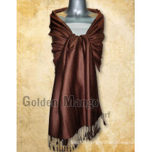 Solid color viscose pashmina scarves