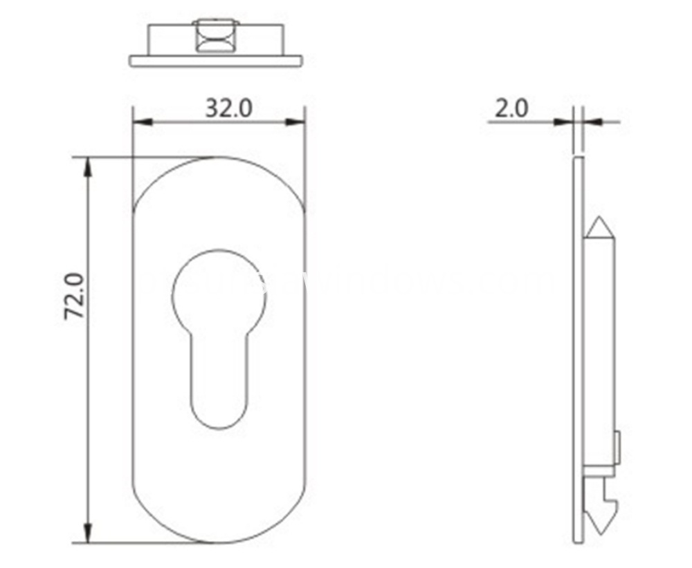 Excellent Quality Aluminum Alloy and Safe Lock Cylinder Cover Drawing