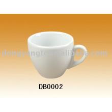 Copos de chá feitos sob encomenda do volume da porcelana branca do plano 200cc