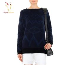 Camisolas do pulôver do Intarsia do inverno para mulheres