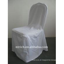 tampa padrão da cadeira do banquete da cor branca, material do poliéster CTV556, lavável durável e fácil