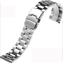 Solid metal bracelet for watches