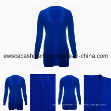 Women′s Minimalism Solid Color V-Neck Top Grade Pure Cashmere Sweater