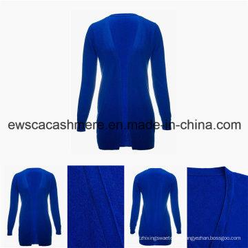 Женская минимализм сплошной цвет v-образным вырезом высшего класса чистый кашемир свитер