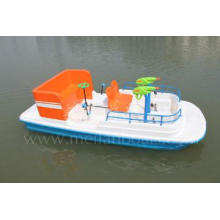 Pedal boat with water gun