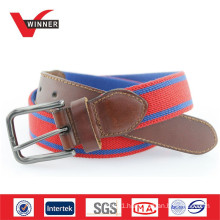 2014 Fashion blue and red stretch fabric belts