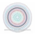 Hot sale Australia Mandalas Round Beach Towel Blue/Pink BT-557 China Supplier