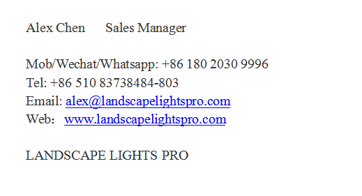 Chang Ou Led Light Information