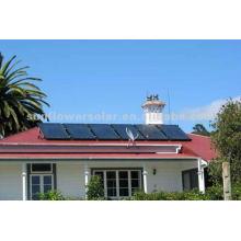 Colector solar de panel plano para uso doméstico