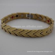 Edelstahl vergoldet Arrow Chain Link Armband