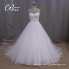 Vestido de casamento de vestido de bola inchado real