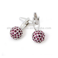 Newest Wholesale Stainless Steel red CZ Cuff links