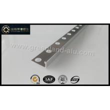 Glt195 Alumínio L Forma Tile Borda Trim Brushed Silver para UK