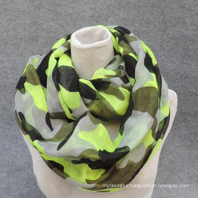 Whosale elegance fashion men soft loop print viscose circle scarf for Keep out the cold