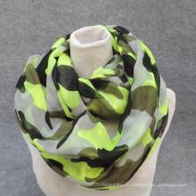 Лучшая элегантность Мужская мода мягкая петля печать вискоза шарф круг для согреву